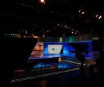 STV News Studio in STV Pacific Quay Studios, Glasgow.