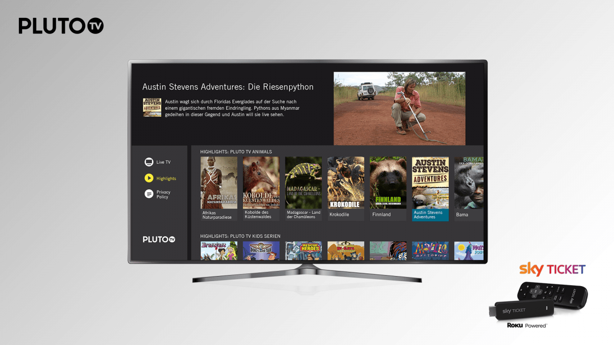 Pluto TV launches in Germany and Austria