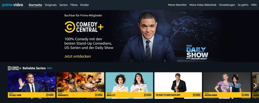 Comedy Central+ launches on Amazon Prime Video Channels