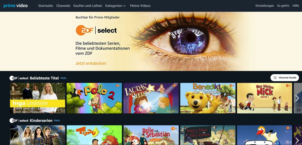 Zdf Select Channel