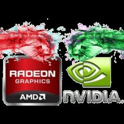 AMD Radeon vs NVidia GPU Logo