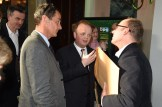 Best Actor Toby Jones (centre) in conversation with Hugo Blick