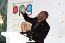 Lenny Henry wins The Outstanding Contribution to Broadcasting at the 41st BPG Awards 2015 sponsored by Discovery Channel Held at Theatre Royal, London – 13.03.15 © Discovery Communications