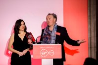 Marcus Bentley aka the Voice of Big Brother helps collect the BPG Chairman's Prize for the multiple season Big Brother