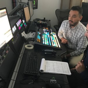 Taylor and Roman in Control room