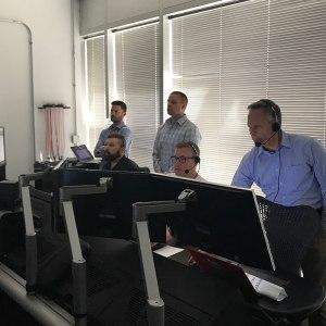 Todd In Control Room wiht Matt and Joe