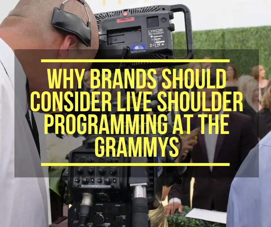 Live Shoulder Programming at the Grammys