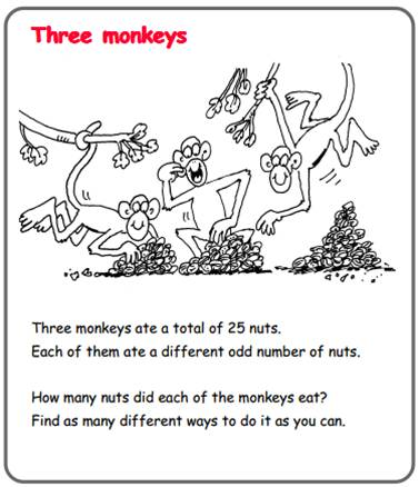 Maths - Three monkeys