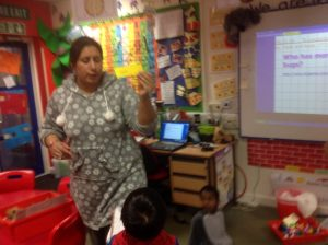 Mrs Shergill was really helpful. She even helped us by segmenting and blending the words with us!
