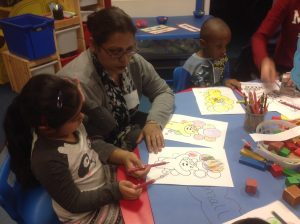 During Stay and Play our parents joined us in colouring activities.