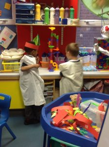 We made our own Crow Indian Costumes and used them in our role play.