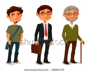 stock-vector-cartoon-characters-showing-age-progress-a-young-boy-adult-businessman-and-senior-man-190684745