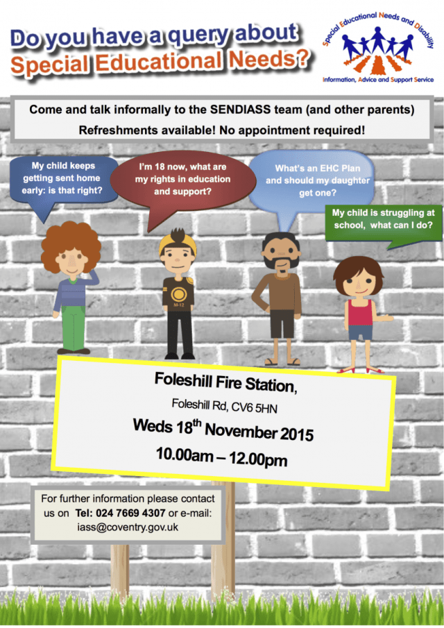 foleshill drop in poster