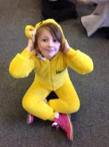 Aimee - Rose in a Pudsey Bear costume!
