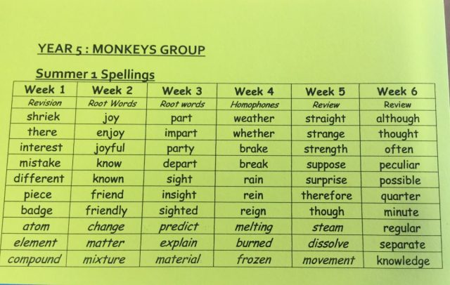 Monkeys Spellings