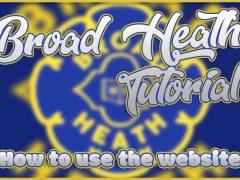 Broad Heath Website Tutorial