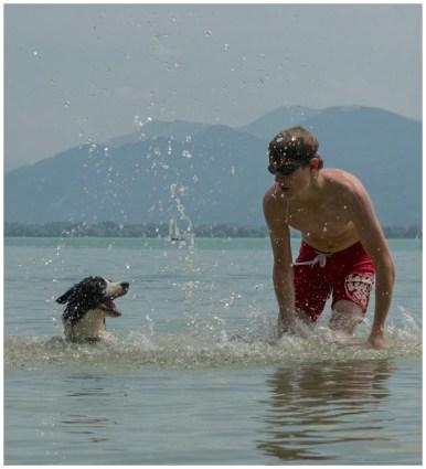 Pepper am Chiemsee: Wasser macht Spaß