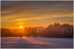 05|01|2015 – Sonnenuntergang bei Salzburg/Ww