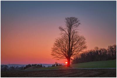 20|04|2015 – Sonnenaufgang im Erzgebirge