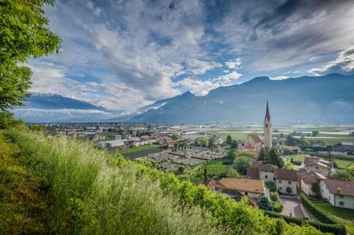 13 05 2016 – Hinreise: Blick auf Lana in Südtirol