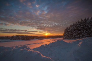 18 01 2017 – Sonnenuntergang auf der Fuchskaute