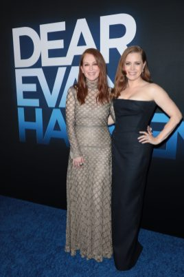 Julianne Moore and Amy Adams attend as Universal Pictures presents the premiere of DEAR EVAN HANSEN at the Walt Disney Concert Hall on Wednesday, September 22, 2021. (Photo: Alex J. Berliner/ABImages)