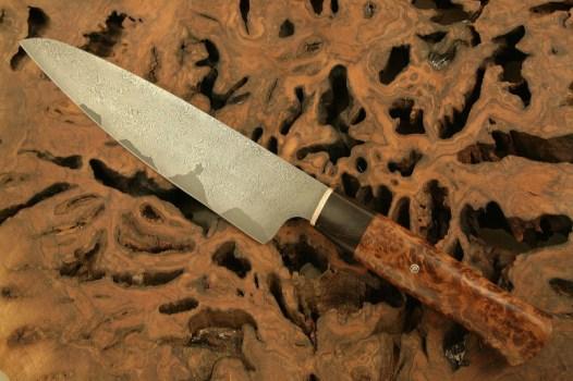 Chef Knife stainless san mai damascus