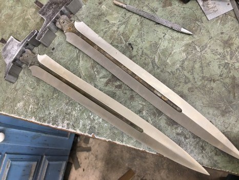 rough guards fitted to blades