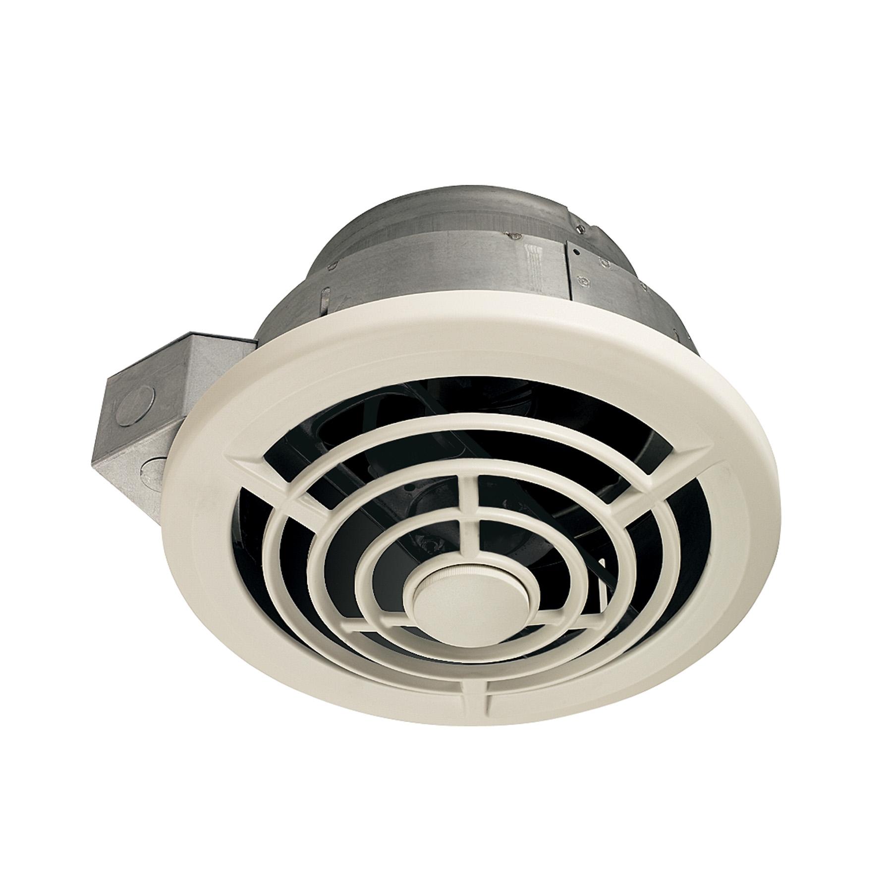 nutone ceiling mount utility ventilation fan w vertical discharge 210 cfm