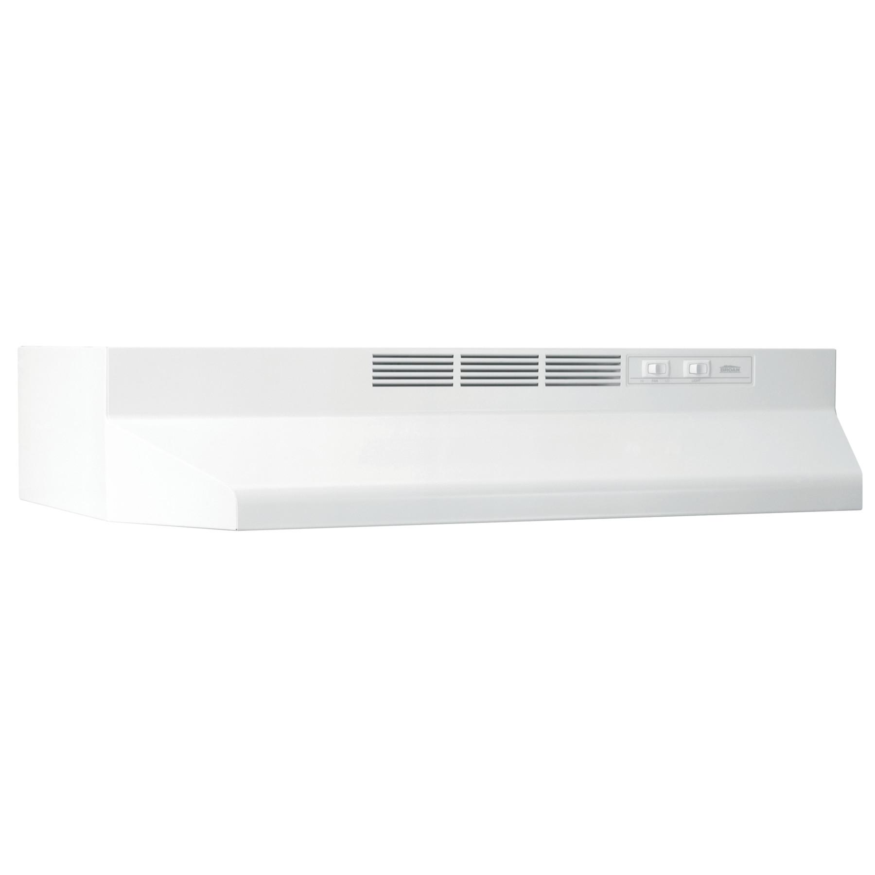 broan 21 inch ductless under cabinet range hood white