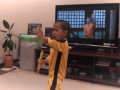 Watch This Badass 5-Year-Old Kid Perfectly Imitate Bruce Lee's Nunchuk Scene From 'Game Of Death'