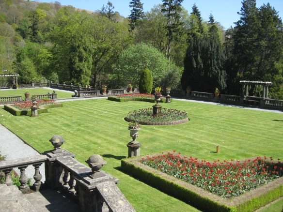 Rydal hall formal garden