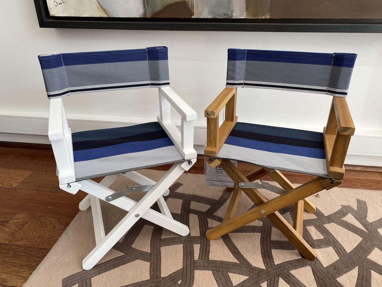 decoration chambre enfant fauteuils personnalises toile basque fauteuil metteur en scene personnalise toile basque elea broderie elea