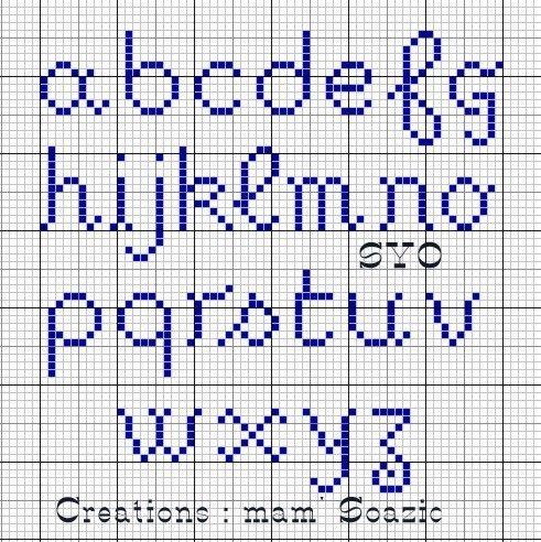 abecedaire point de croix majuscule minuscule