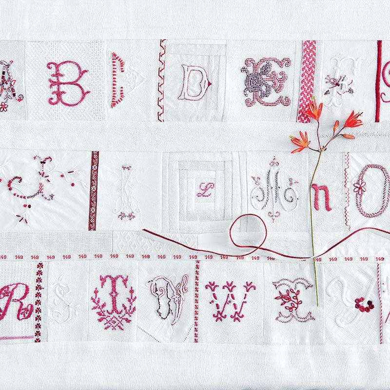 alphabet en broderie traditionnelle