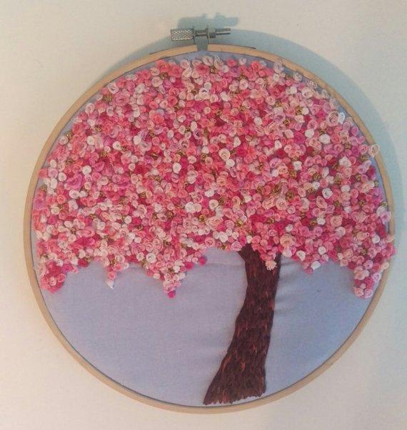 broderie fleur de cerisier