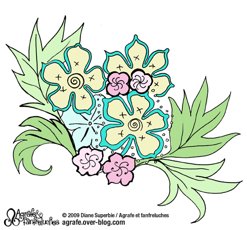 dessin de fleur pour broderie