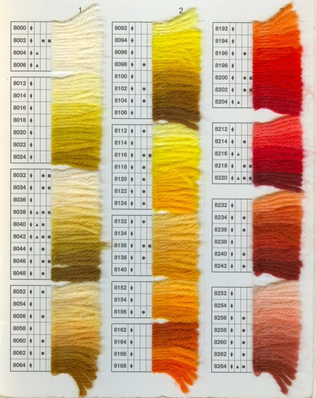 dmc tapestry wool colour chart