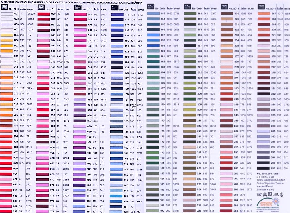 fils dmc coloris