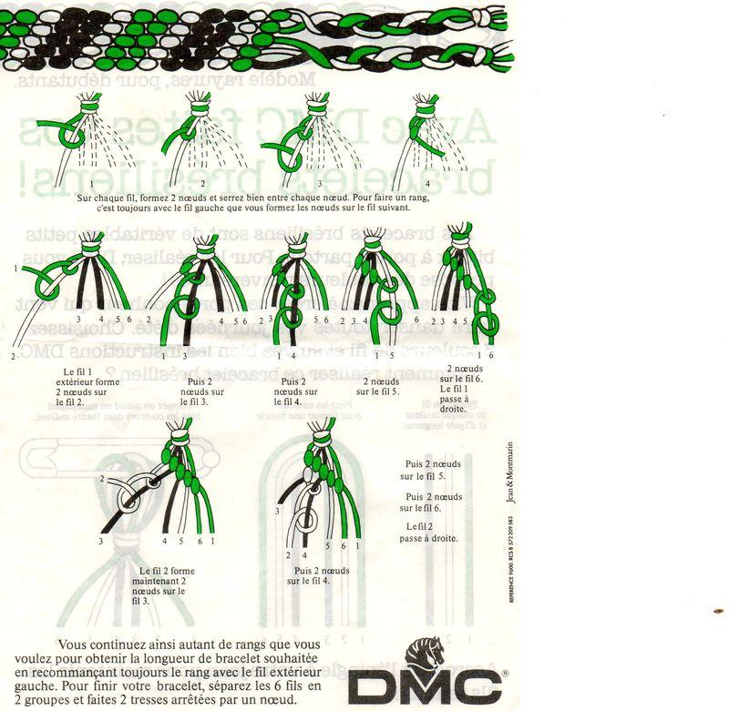 modele bracelet bresilien dmc