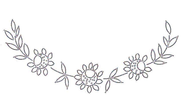 modele de fleurs a broder