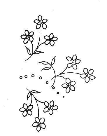 motif fleur a broder