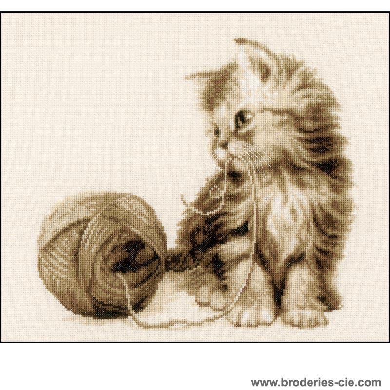 point de croix chat