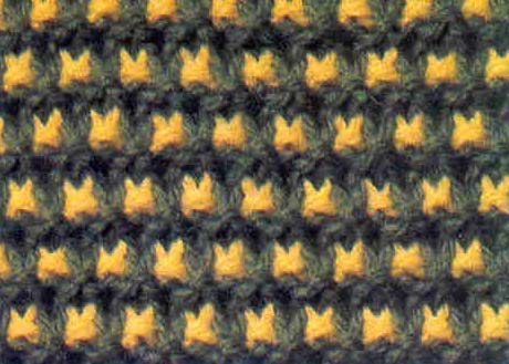 tricot point de croix