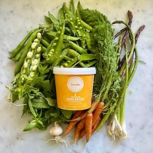 The No-Recipe Recipe, complete with farm-fresh veggies