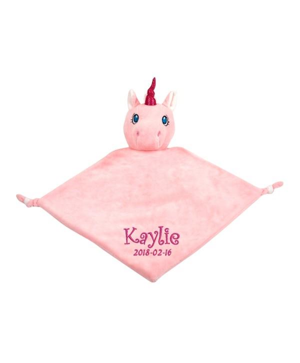 Snuttefilt Enhörning rosa, med en unik och personlig brodyr