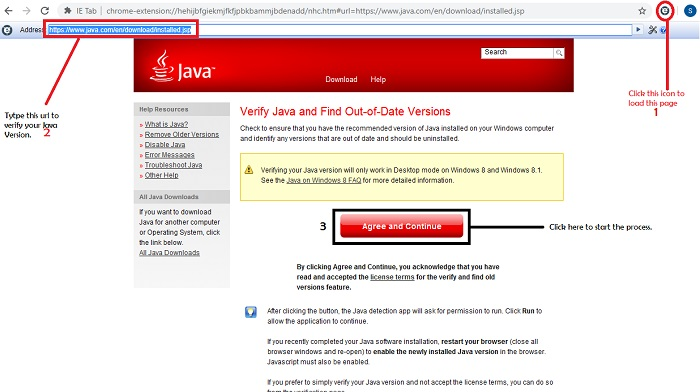Enable java on Chrome