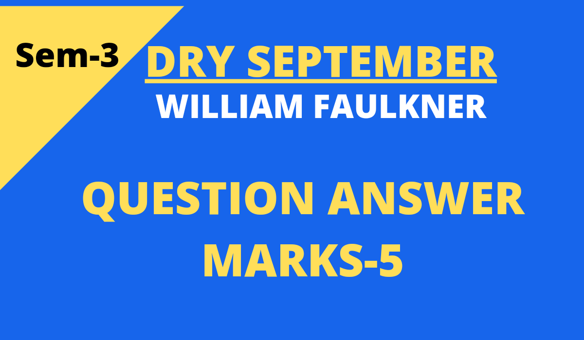 Dry September questions and answers