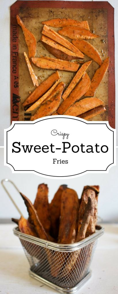 Sweet potato Fries | Crispy and delicious baked sweet potato fries recipe | BrokeFoodies.com