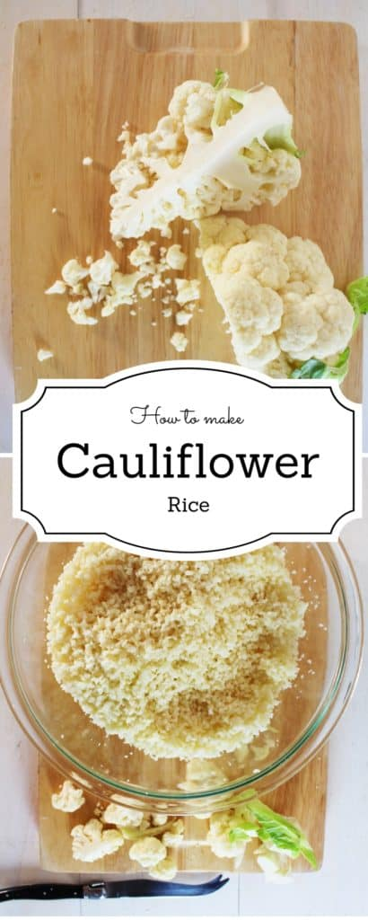 How to make cauliflower rice -Say goodbye to carbs with this awesome alternative.